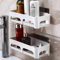 免打孔洗手间洗漱用品收纳架子卫生间用品置物架浴室墙上壁挂厕所 2个装 低长款