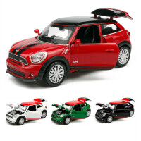 宝马迷你合金回力汽车模型 儿童声光玩具mini小汽车