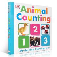 英文原版进口童书 Animal Alphabet 儿童翻翻纸板书 DK出版 质量上乘 幼儿数字认知启蒙 数数 手眼协调
