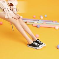 Camel/骆驼2019夏季新款 ��拖鞋女小白鞋女板鞋包头半拖鞋女外穿