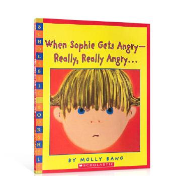英文原版正版When sophie gets really really angry吴敏兰 张湘君推荐绘本123
