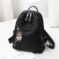 牛津布双肩包女2019新款潮韩版时尚百搭书包旅行帆布女包包小背包