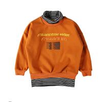 男童秋冬装加绒卫衣新款儿童圆领上衣童装男孩长袖保暖打底衫
