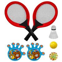儿童网球拍 羽毛球拍二合一亲子互动玩具儿童初学运动粘粘球