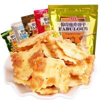 AJI惊奇脆片饼干200g*4 咸味苏打薄脆饼干蔬菜零食品大礼包组合休闲批发