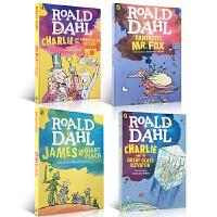 英文原版绘本章节书 Roald Dahl 4册 罗尔德・达尔Charlie and the chocolate fac