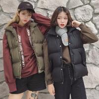 慈姑女装春装2017新款潮韩版上衣开衫学院风学生纯色无袖马甲棉衣外套