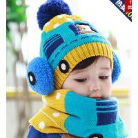 男女童儿童帽子婴儿宝宝帽子毛线帽秋冬季