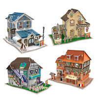 法国建筑拼装模型 立体拼图 智力玩具 3d拼图玩具益智拼插