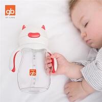 水杯宝宝学饮杯吸管训练杯带握把儿童水杯 婴儿