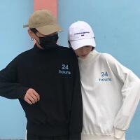 新品春季情侣卫衣韩版学生宽松领卫衣外套学生班服风男女卫衣