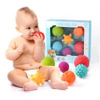 手抓球软胶0-3-6-8-12个月0-1岁男孩子女宝宝5-7玩具可咬