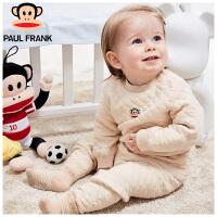 TWU3174146大嘴猴(Paul Frank) 婴幼儿空气层菱格彩棉套装