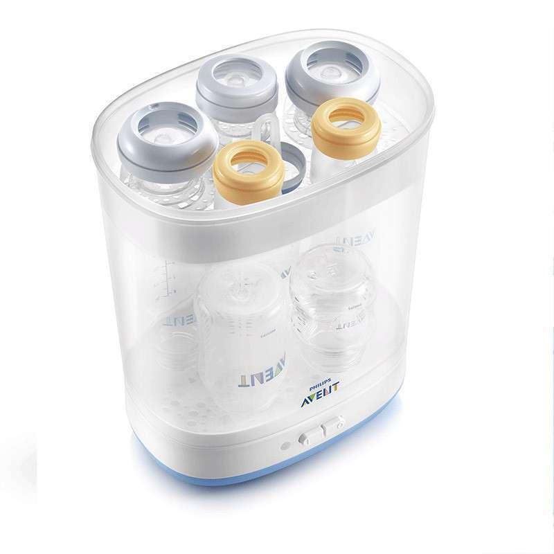 飞利浦新安怡 电热蒸汽消毒锅 奶瓶消毒器 婴儿用品灭菌SCF922 适合多种奶瓶 支持* 快速蒸汽消毒 操作容易清洁
