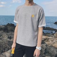 夏天2018新款男士短袖T恤韩版修身半袖体恤夏季日系潮流个性男装