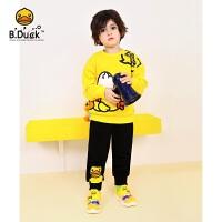 【3折价:107.7】B.duck小黄鸭童装男童裤子2020春装新款儿童运动裤中小童长裤BF1157915