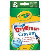 Crayola绘儿乐 蜡笔 8色可水洗彩色大蜡笔-白板专用 98-5200