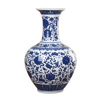 陶瓷 花瓶�[件 客�d 青花瓷花瓶�F代家居�b�客�d�[件