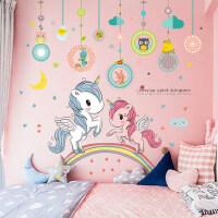 可爱卡通贴纸女孩公主房卧室床头墙贴画儿童房间布置装饰墙纸自粘