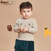 【2件2.5折 到手价:125】Pawinpaw卡通小熊童装秋冬款男女宝宝款毛衣婴幼儿长袖卡通毛衣