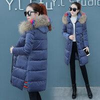 女冬季2018韩版百搭加厚棉衣冬天中长款金丝绒棉袄外套潮