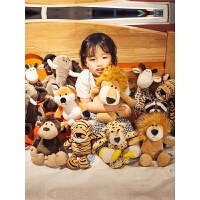 抓机娃娃公仔小玩偶抱枕毛绒玩具狮子大象儿童睡觉抱女孩婚庆礼物