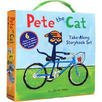 英文原版绘本 Pete the Cat Take-Along 6 Book 皮特猫6本礼盒装 廖彩杏推荐书单 3-6-