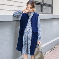 开衫潮妈连衣裙孕妇装秋装2018新款秋季韩版毛衣长袖针织衫