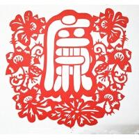 传统大红色文化手工剪纸刻纸画作品中国风送人礼品