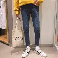 男士牛仔裤2018春季新款韩版修身小脚裤帅气潮流青少年休闲男裤子