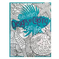 【全店300减100】进口英文原版绘本Ruth Heller's Designs for Coloring Sea Li