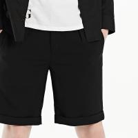 GXG短裤男装 夏季男士修身黑色青年气质时尚潮流休闲短裤五分裤