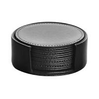 皮革杯垫茶杯垫隔热垫 餐桌隔热杯垫 欧式方形咖啡杯垫定制