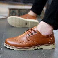 【包邮】2016春季新款男士休闲单鞋英伦复古布洛克男鞋系带低帮男皮鞋K6602DRJD