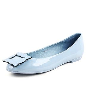 BASTO/百思图春季专柜同款牛皮女单鞋16A53AQ6
