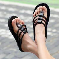 外穿韩潮人海边沙滩鞋凉拖人字拖男男士拖鞋潮牌夏季时尚