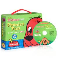 英文原版绘本Clifford Phonics Fun Pack4 12册+CD 大红狗 Big Red Dog 趣味自
