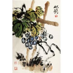 朱屺瞻《秋硕》著名画家