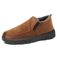 棉鞋男冬季加绒保暖加厚男士运动休闲鞋防滑中老年懒人老北京布鞋