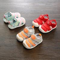 夏季新款宝宝鞋女包头婴儿凉鞋不掉鞋小童学步鞋