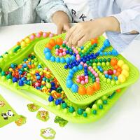 蘑菇钉拼图儿童智力玩具1-3-6周岁4男女孩5早教2幼儿宝宝智力开发