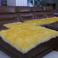 羊毛沙发垫冬天季坐垫飘窗毯长毛绒垫子 保暖加厚定做27586220443
