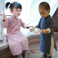 复古宝宝春装男0一1岁婴儿衣服潮款中国风唐装礼服周岁女童汉服