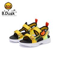 【3折价:98.7】B.Duck小黄鸭童鞋男女童凉鞋2020夏季新款儿童沙滩鞋软底透气B2183926
