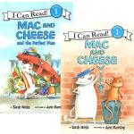 Mac and Cheese 2本合售 I Can Read L1 英文原版分级读物读本 小学生英语启蒙故事书