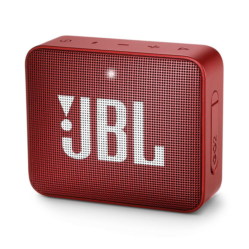 JBL GO2升级版音乐金砖二代无线蓝牙音箱户外便携迷你小音响低音 红色 红色 家电自营