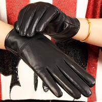 真皮手套男士秋季绵羊皮加绒加厚保暖薄款骑行摩托车女士手套