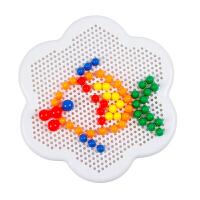 3-8岁儿童玩具拼画积木宝宝拼图梅花盘 蘑菇钉插板