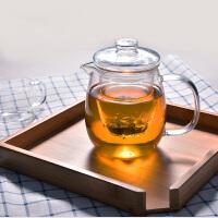 企鹅玻璃茶壶500ML 耐高温过滤泡茶杯加热泡花茶壶茶具茶器内胆过滤小企鹅高硼硅煮茶壶