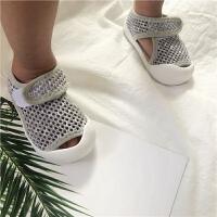 夏季宝宝凉鞋婴儿学步鞋包头网布鞋男女童机